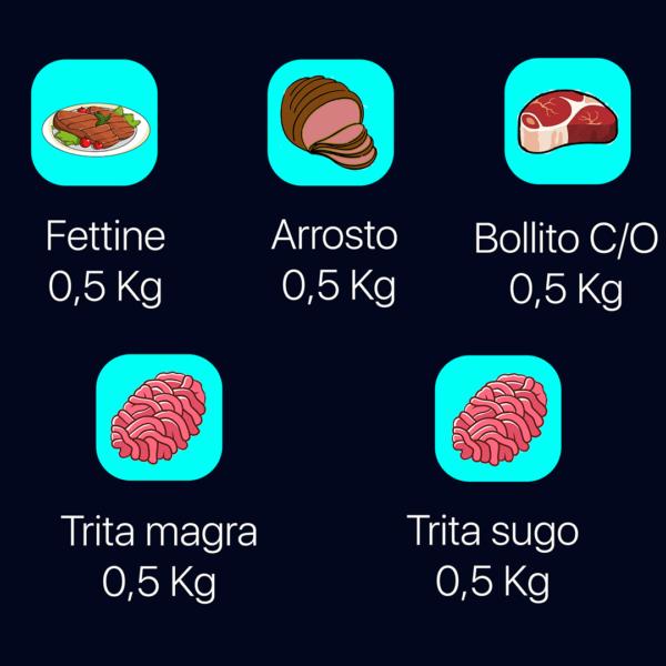 Pacco assaggio Vitello di carne macelleria piemontese online